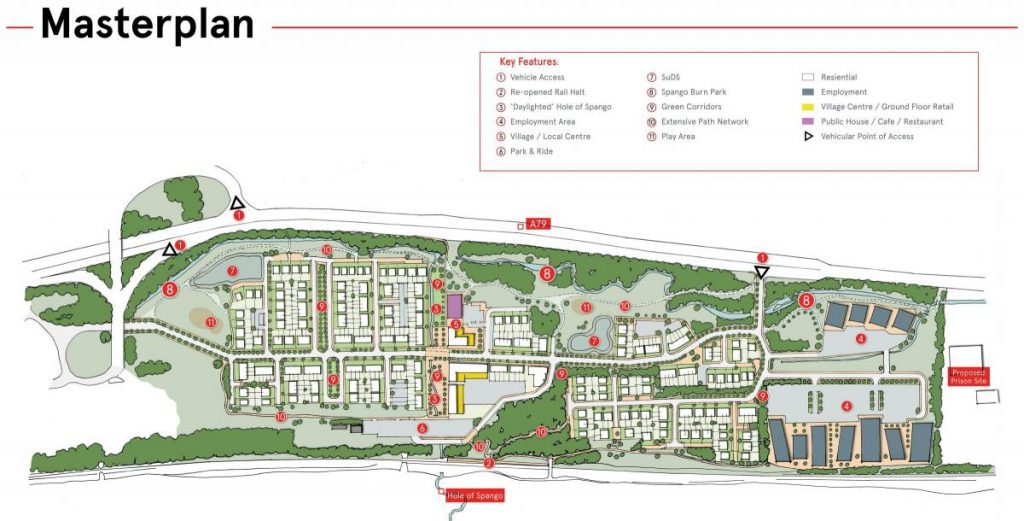 Spango Valley Greenock Masterplan